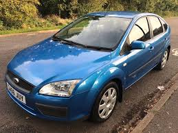 ford focus 1 6 lx tdci 2007 blue 5 speed manual 5 door hatch
