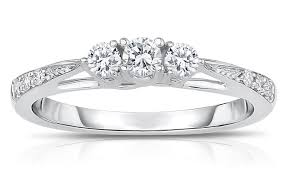 groupon wedding rings 1 4 cttw 3 ring groupon goods
