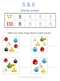 Worksheets For Kindergarten Free Angry Birds Math Worksheets For Kindergarten