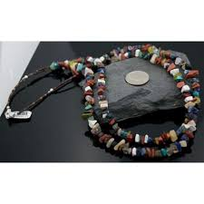 necklace natural stone images Large authentic 2 strand navajo native 925 sterling silver jpg