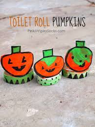 Recycled Halloween Crafts - pink stripey socks toilet paper roll