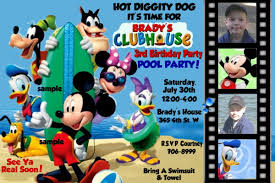 personalized mickey mouse clubhouse birthday invitations