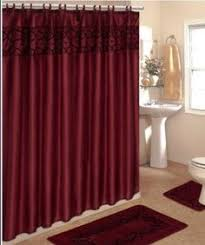 3 Piece Curtain Rod 3 Piece Bath Rug Set W Shower Curtain And Matching Rings Grey