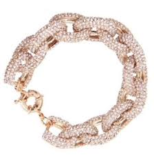 luxury bracelet gold chains images Jewels bracelets rose gold chain chain bracelet pave link jpg