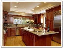 kitchen colors with cherry cabinets blue kitchen painting ideas