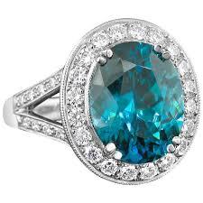 zircon engagement rings richard krementz blue zircon platinum ring at 1stdibs