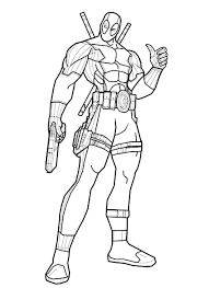 marvel superhero deadpool coloring pages womanmate