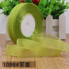 ribbons wholesale 50 yards roll 3 4 20mm army green organza ribbons wholesale gift