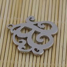 lettre en acier pendentif de lettre en acier inoxydable lettre b couleur