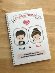 wedding planning journal a5 personalised wedding planner note book journal mix match your
