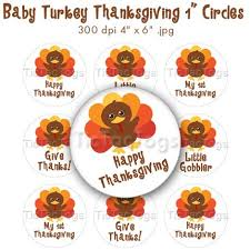 baby turkey thanksgiving bottle cap images 1 inch circle digital