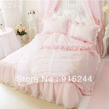 Girls Bed Skirt by Embroidery Dream Luxury Bedding Lace Pink Chiffon Yarn Princess
