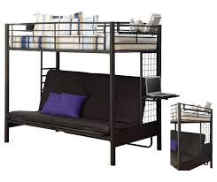 Black Metal Futon Bunk Bed Bedding Engaging Bunk Bed With Futon Outback Twin Full Kids