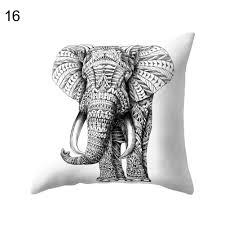 home decor elephants 18 u0027 u0027 vintage indian elephant throw pillow cover cushion case home