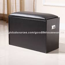 modern shoe rack bench in black color global sources