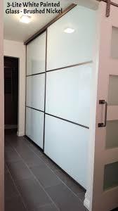 Tempered Glass Closet Doors Closet Interior Doors And Closets Shop White 3 Lite Solid