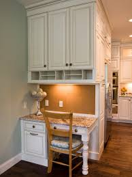 kitchen cabinet desk ideas this custom designed kitchen desk area features plenty of storage