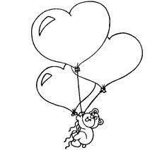 valentine hearts coloring pages craft 4 kids 2 color