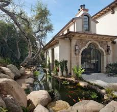 santa barbara koi pond design landscape mediterranean with