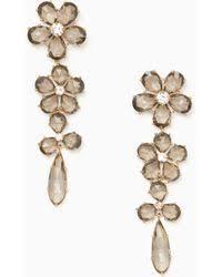 honey singh earrings lyst free falls bloom statement earrings in green