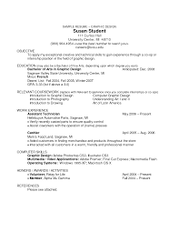 creative resume objectives template
