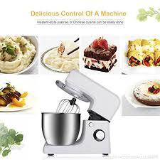 crochet cuisine inox pâtissier électrique bol en inox de 6 5l quantité de mélange jusqu