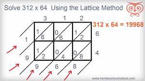 lattice method multiplication with 3 digit numbers youtube