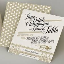 great gatsby wedding invitations deco wedding details mywedding