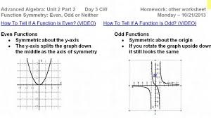 Graphing Polynomial Functions Worksheet Day 3 Hw 1 To 6 Prove Function Symmetry Even Odd Or Neither