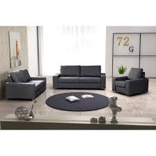 fauteuil canapé ensemble de 2 canapés fauteuil coffee gris achat vente