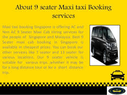 Comfort Maxi Cab Charges Best 9 Seater Maxi Cab