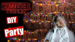 diy halloween party stranger things youtube