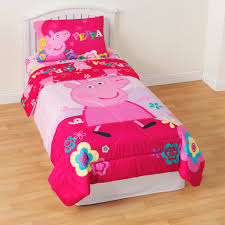 twin bed in a bag sets for girls peppa pig microfiber comforter