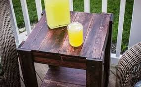 Make Outdoor End Table by Diy Pallet End Table Hometalk