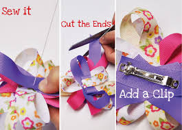 ribbon hair bow printed ribbon hair bow tutorial m j