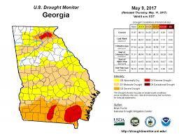 Uga Map Water At Uga Drought Monitor May 9 2017