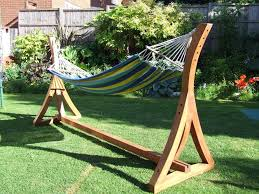 wooden hammock stand decor references