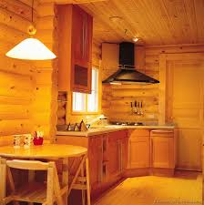 Cabin Kitchen Cabinets Log Home Kitchens Pictures U0026 Design Ideas