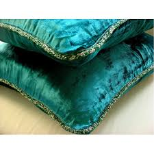 Buy Cheap Cushion Covers Online Amazon Com Designer Royal Peacock Green Euro Sham 26