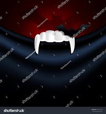 vector illustrator vampire teeth bat paper stock vector 452121979