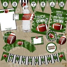 mini football package decorations favors diy