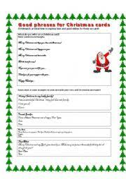 worksheet writing christmas cards