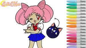 sailor moon coloring book pages chibiusa rainbow splash rscb anime
