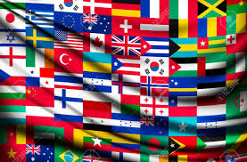 World Flag Big Flag Background Made Of World Country Flags Vector Royalty