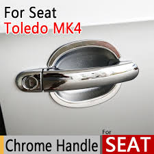 Chrome Exterior Door Handles For Seat Toledo 4 Mk4 2012 2016 Luxurious Chrome Exterior Door