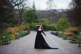Wedding Dresses Sheffield Black Gothic Wedding Dress Shoot Sheffield Botanical Gardens