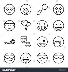 happiness icons set set 16 happiness stock vector 655045540