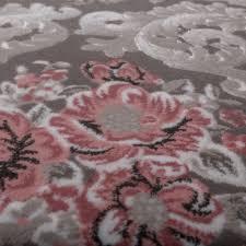 Wohnzimmer Grau Rosa Designer Teppich Ornamente Grau Rosa Design Teppiche