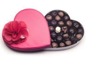 heart chocolate box with corsage heart chocolate candy 1 pound