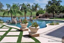 Landscaping Around A Pool by Phoenix Freeform Lagoon Swimming Pool U0026 Spa Design Photo Gallery